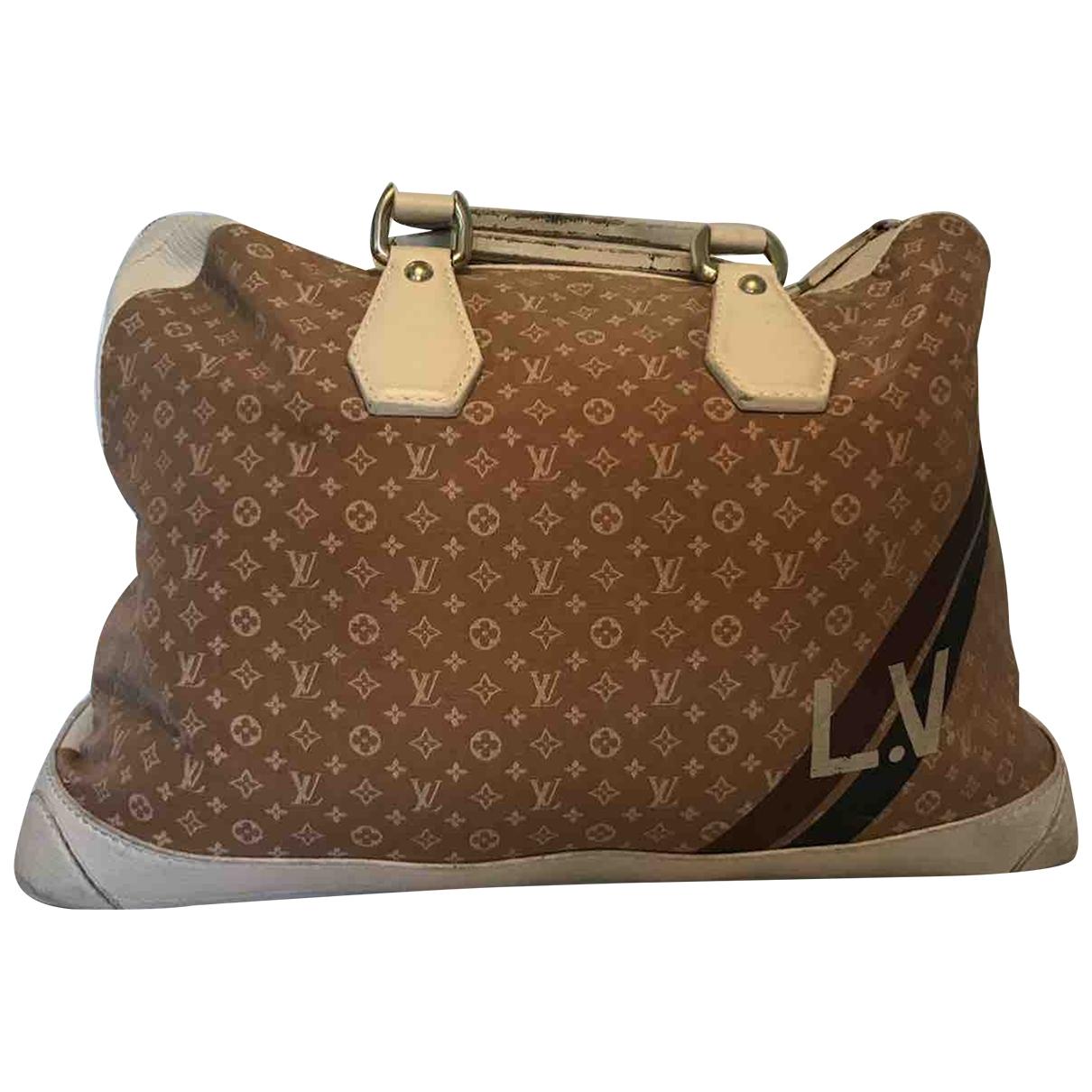 Louis Vuitton - Sac de voyage   pour femme en toile - camel
