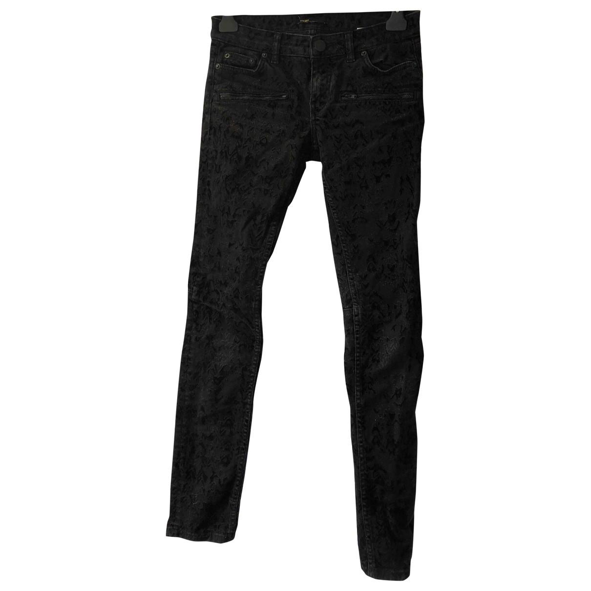 Maje \N Black Cotton Jeans for Women 36 FR