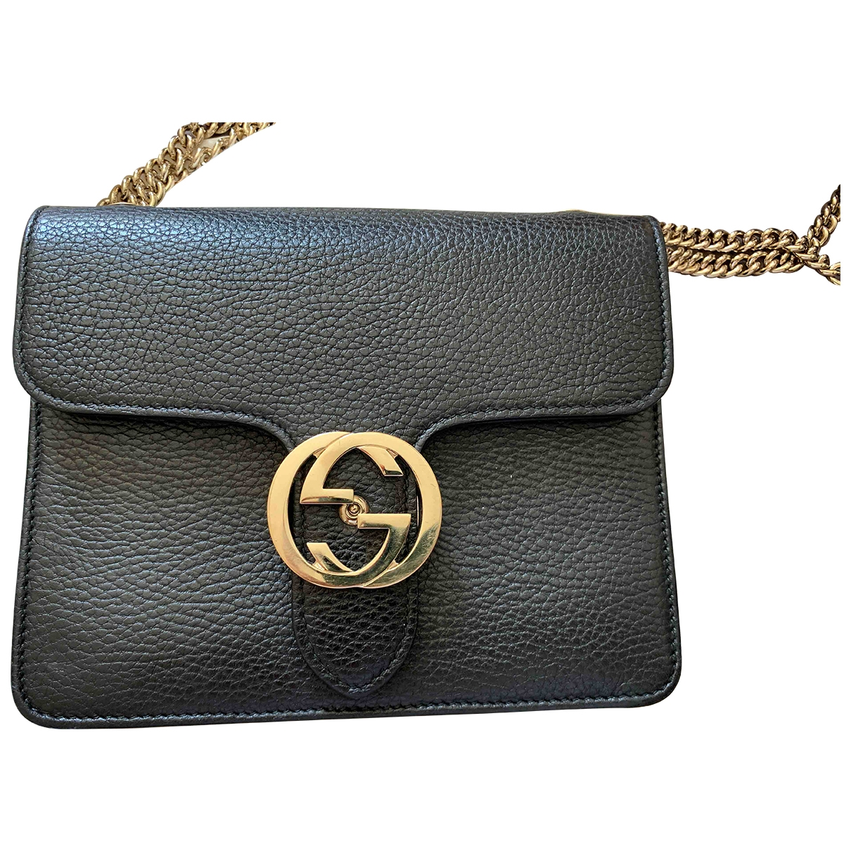 Gucci Interlocking Black Leather handbag for Women \N