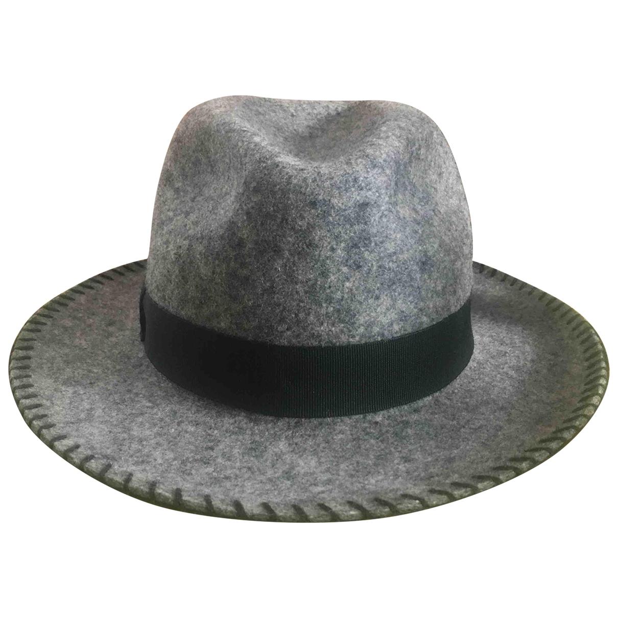 Ba&sh - Chapeau   pour femme en laine - gris