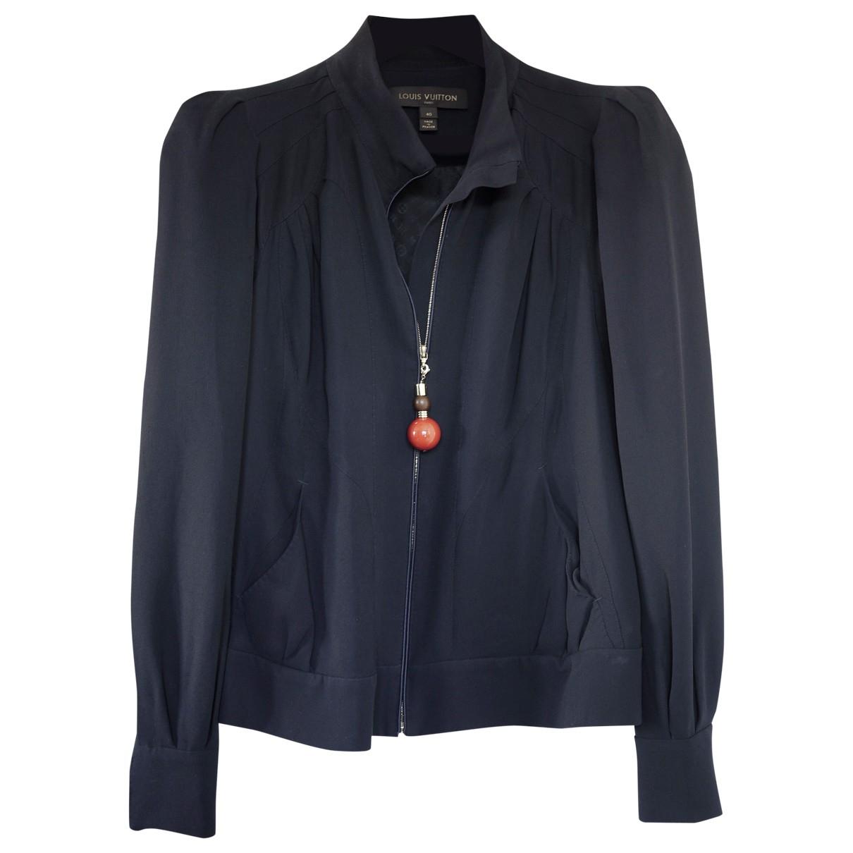 Louis Vuitton \N Navy Silk jacket for Women 40 FR