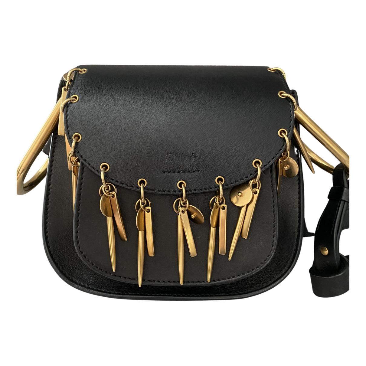 Chloe Hudson Handtasche in  Schwarz Leder