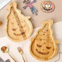 1 Stueck Holztelle mit Halloween Dessert Design