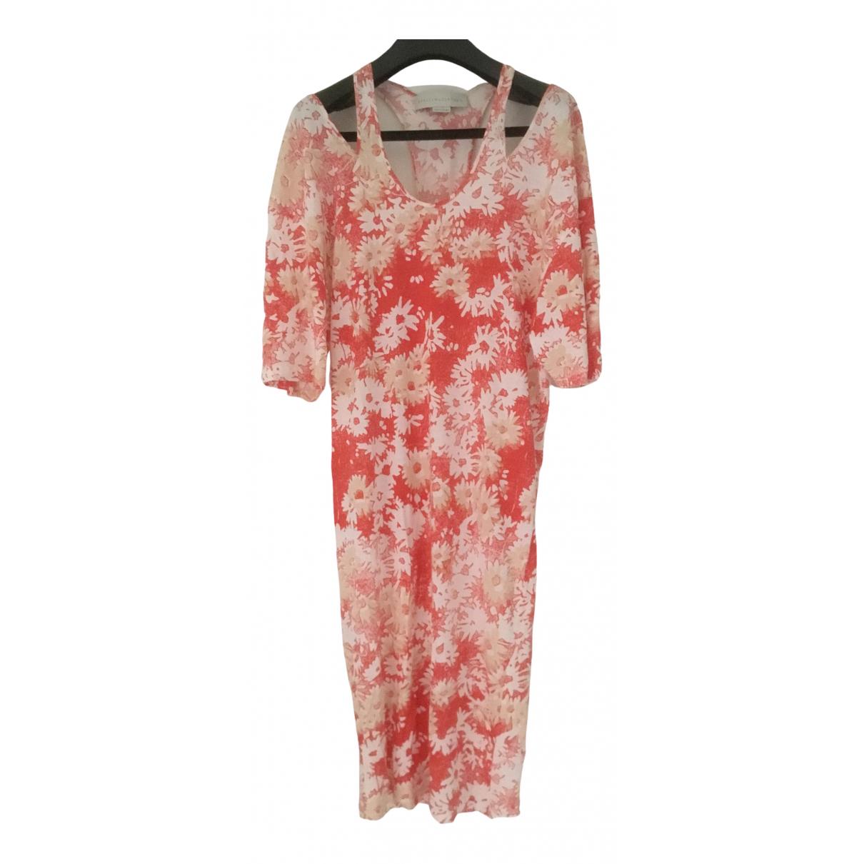 Stella Mccartney \N Kleid in  Rot Baumwolle - Elasthan
