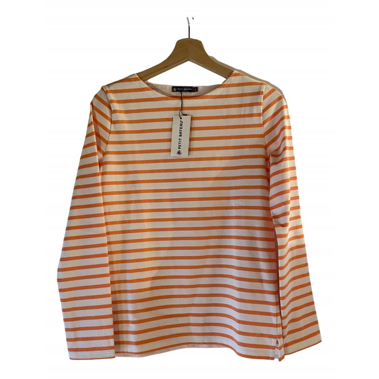 Petit Bateau - Top   pour femme en coton - orange