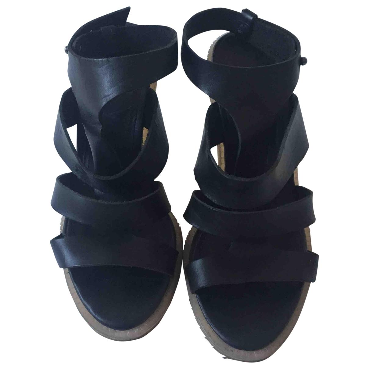 & Stories \N Black Leather Heels for Women 38.5 EU