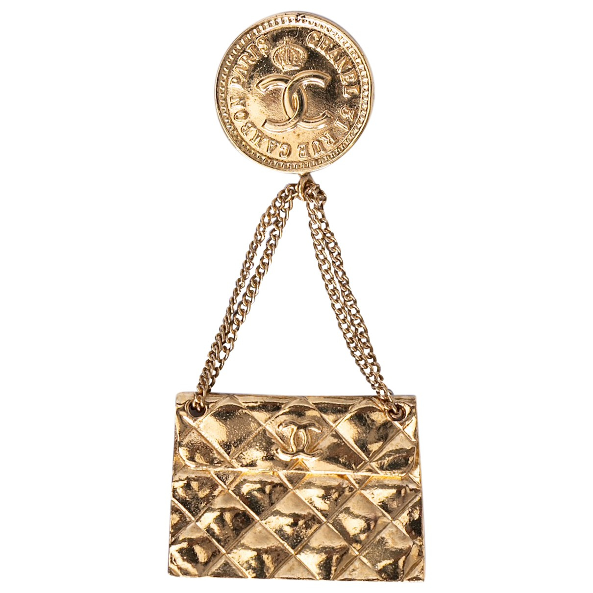 Chanel CC Gold Metal Pins & brooches for Women N