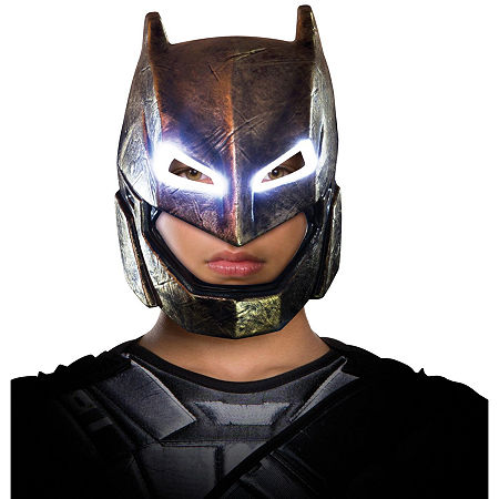 Batman v Superman Dawn of Justice Batman Child Armored Light Up Mask, One Size Fits Most , Multiple Colors
