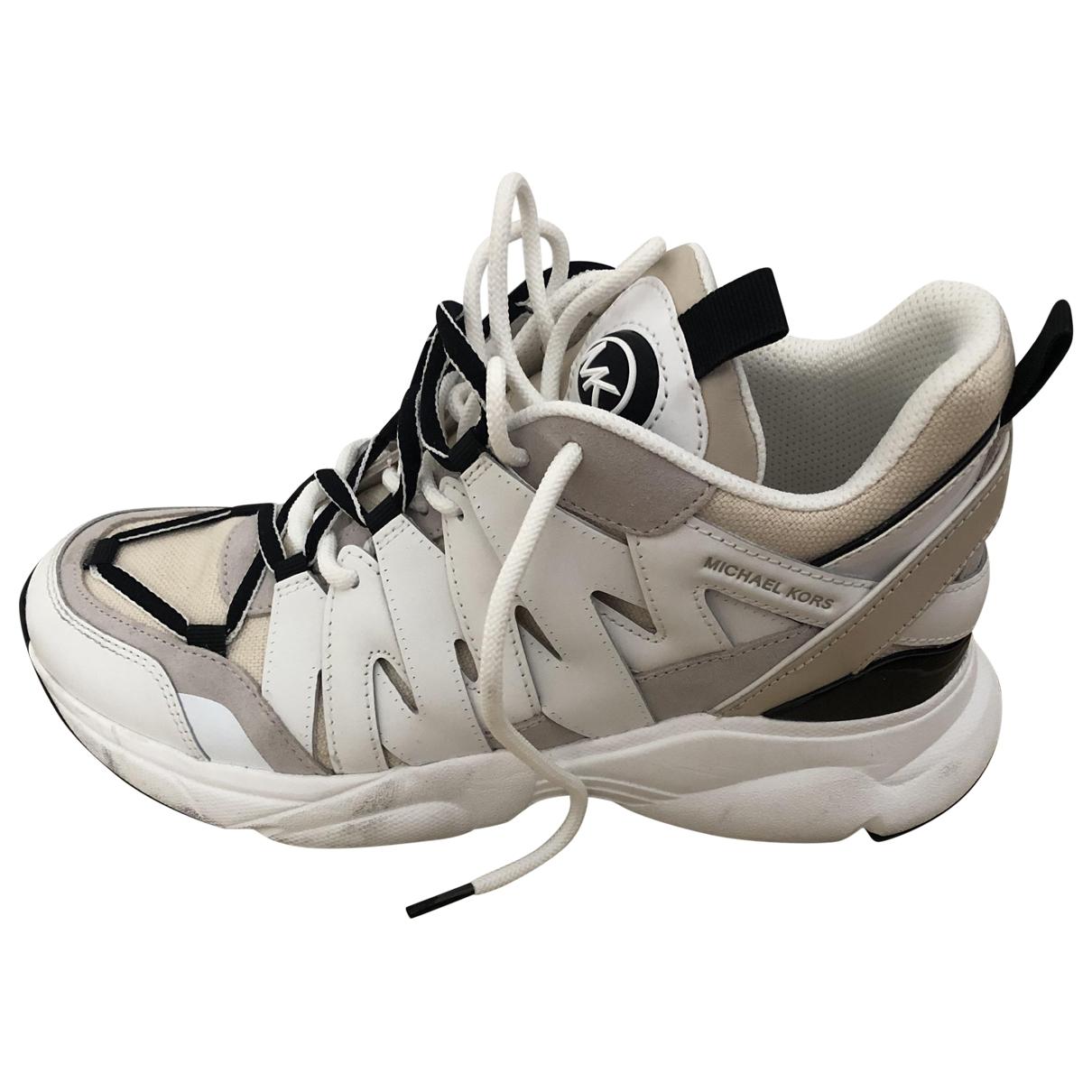 Michael Kors \N Sneakers in  Beige Leder