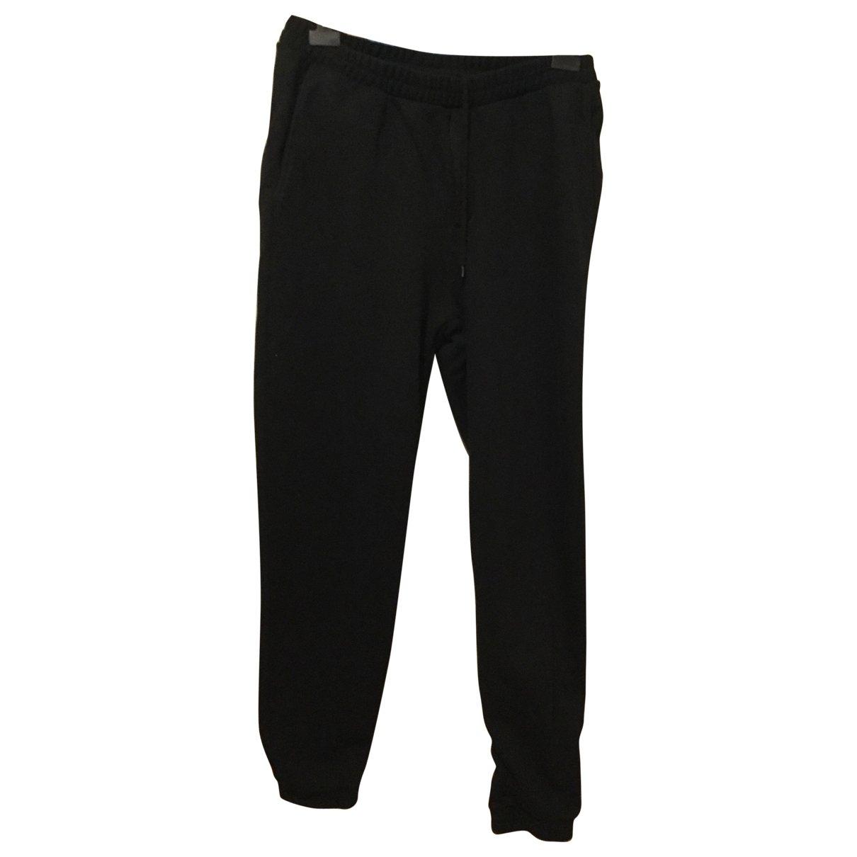 Marcelo Burlon \N Black Cotton Trousers for Men 50 IT