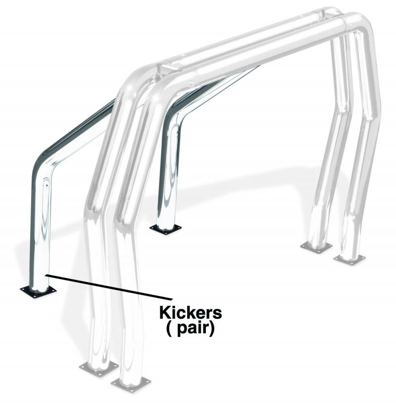 Go Rhino 9520C! Bed Bars - Pair of Kickers (On Wheel Wells) Chevrolet