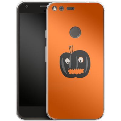 Google Pixel Silikon Handyhuelle - Pumpkin Monster von caseable Designs