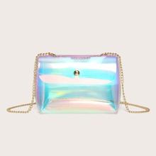 Holographic Chain Crossbody Bag