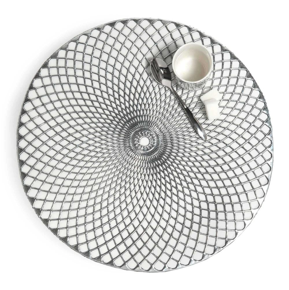 Tischset rund NOHO, D 38cm, silbern