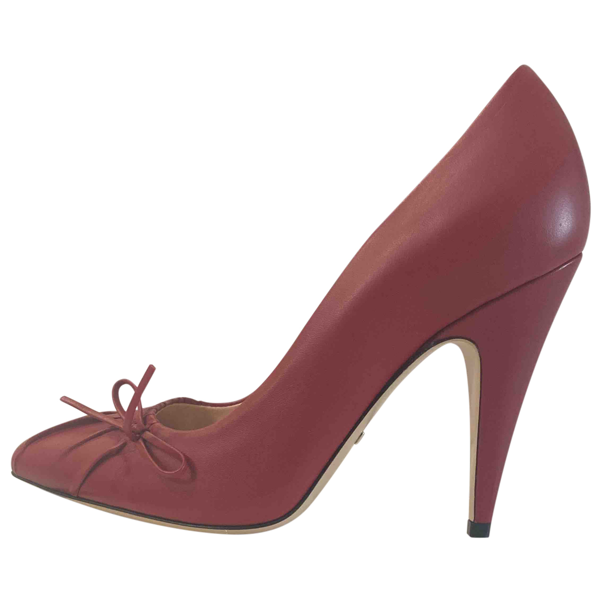 Gucci Sylvie Red Leather Heels for Women 37 IT
