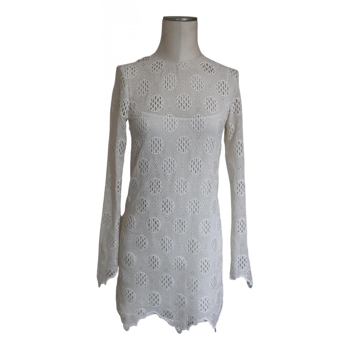 Louis Vuitton \N Kleid in  Weiss Seide