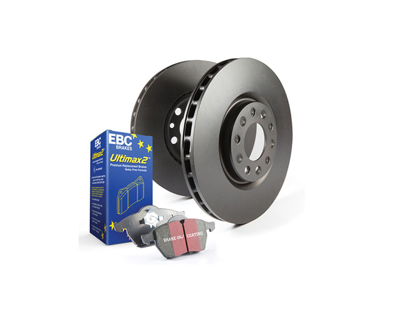 EBC Brakes S1KF1933 S1KF Kit Number Front Disc Brake Pad and Rotor Kit UD1728+RK7738 Mazda Front