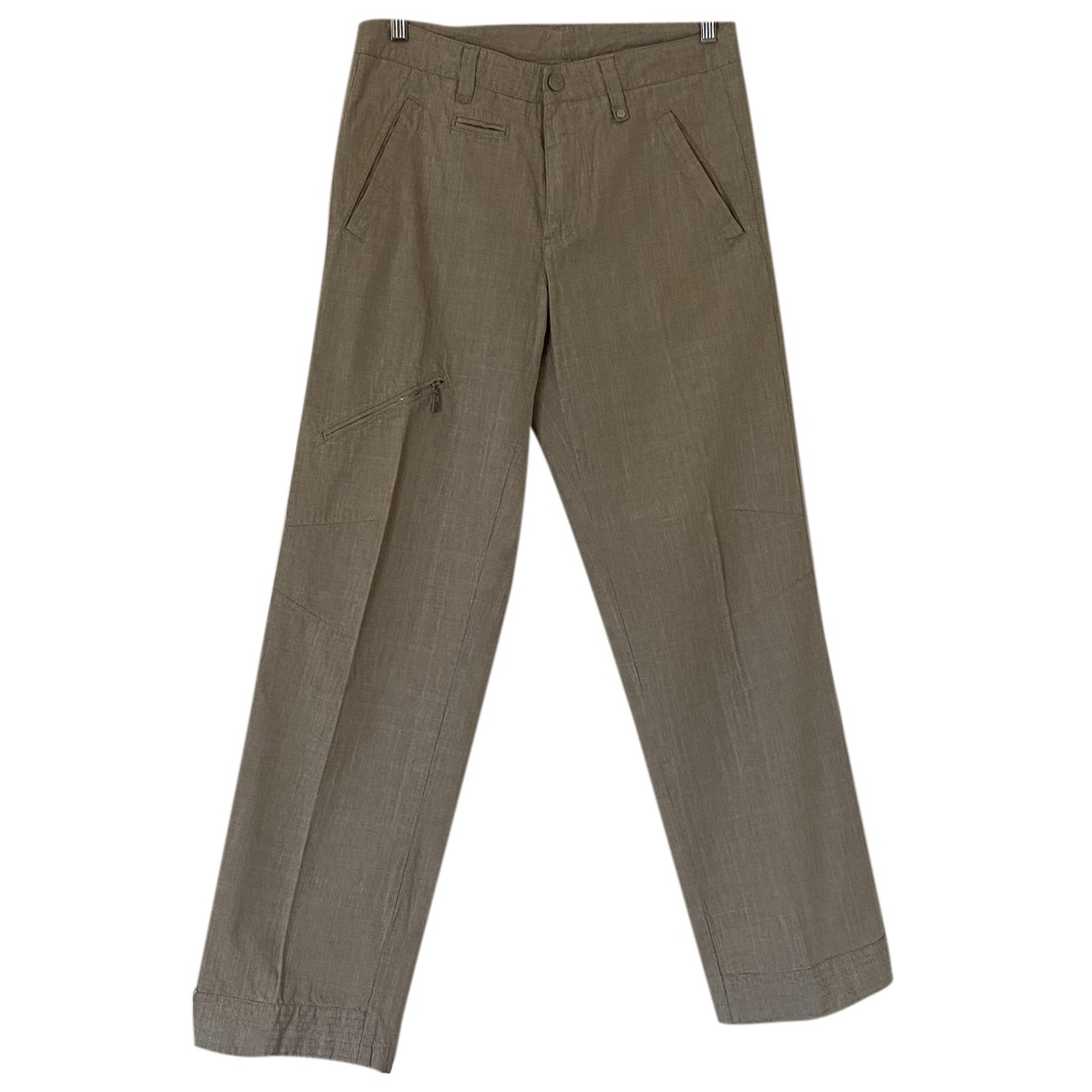 Guess N Beige Cotton Trousers for Men 50 IT