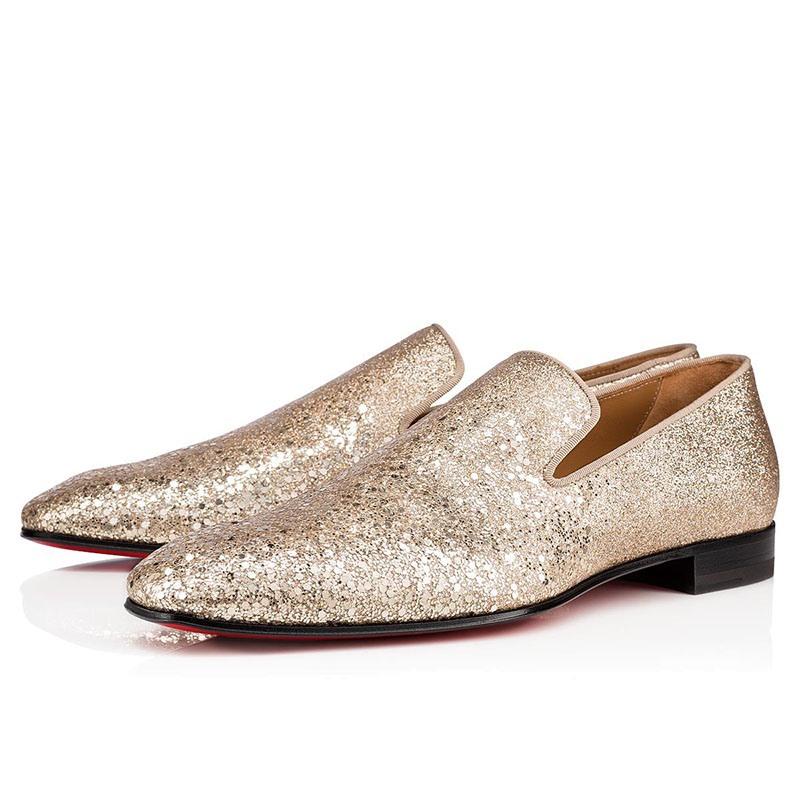 Ericdress Plain Sequin Slip-On Round Toe Men's Dress Shoes
