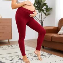 Maternity Asymmetrical Waist Leggings