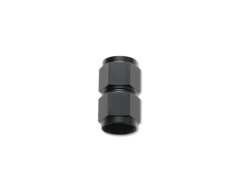 Vibrant Performance 10703 Anodized Black -8AN Female to Female Union Adapter