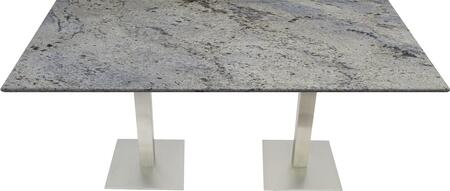 G208 30X42-SS05-17D 30x42 Kashmir White Granite Tabletop with 17