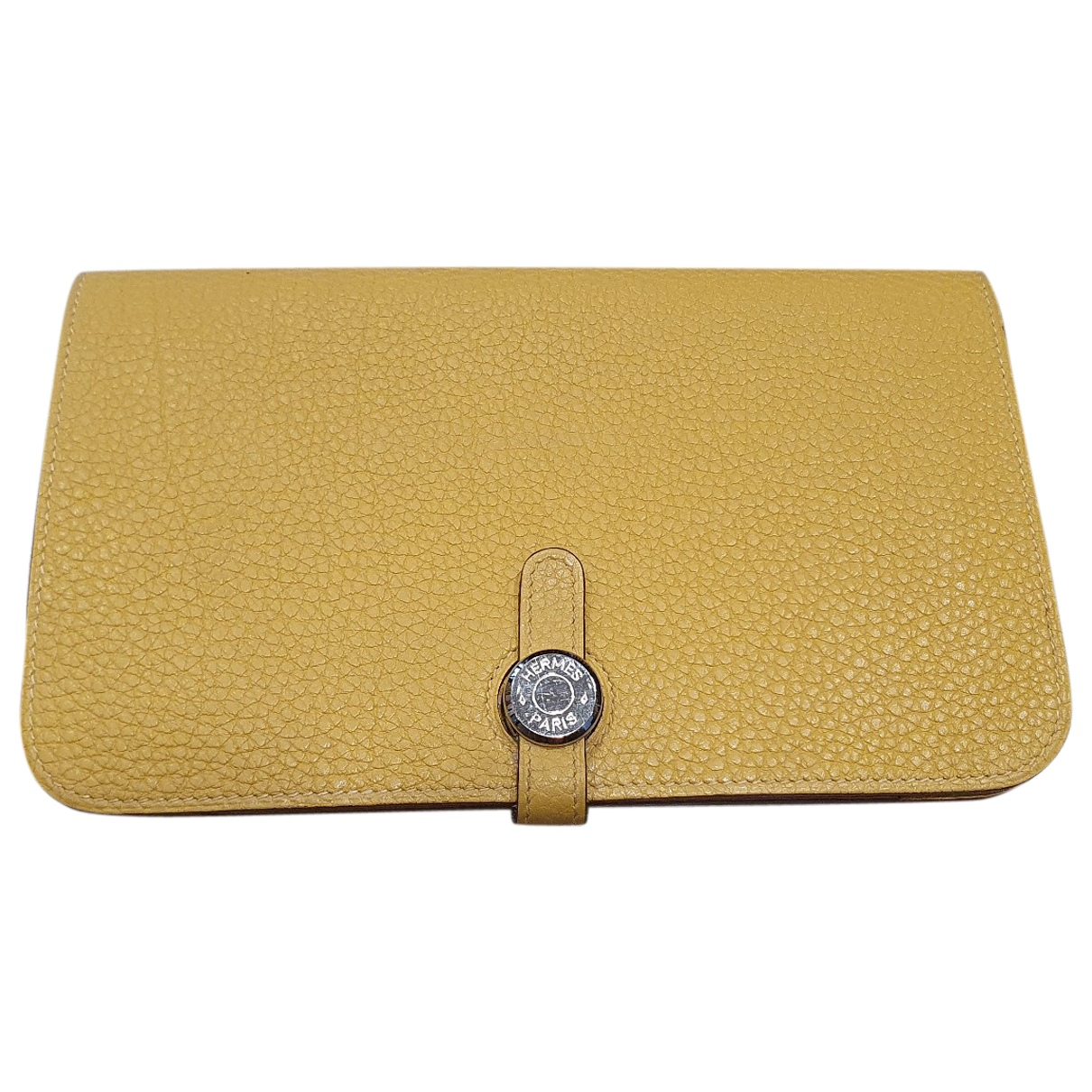 Hermès Dogon Yellow Leather wallet for Women \N