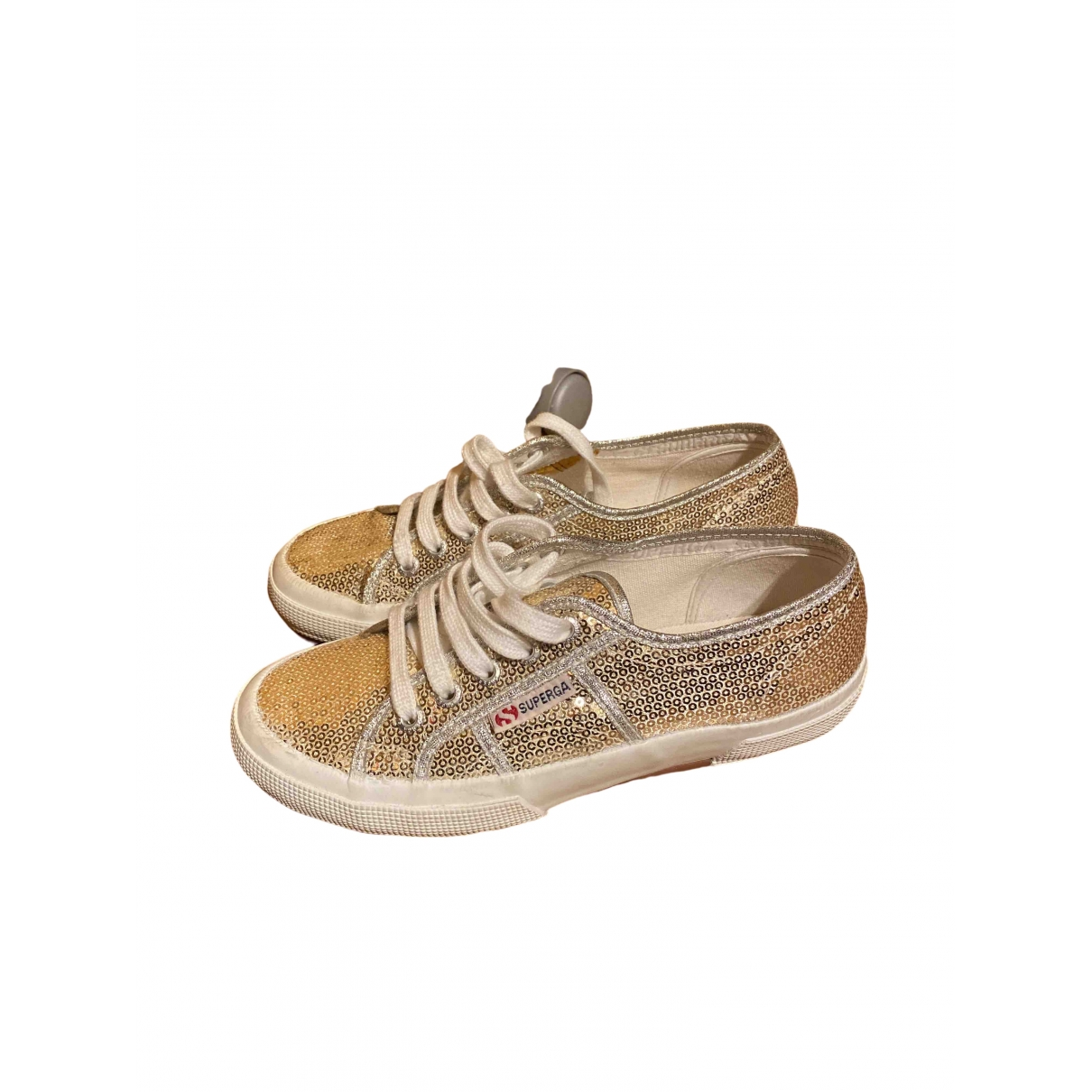 Superga \N Sneakers in  Gold Mit Pailletten