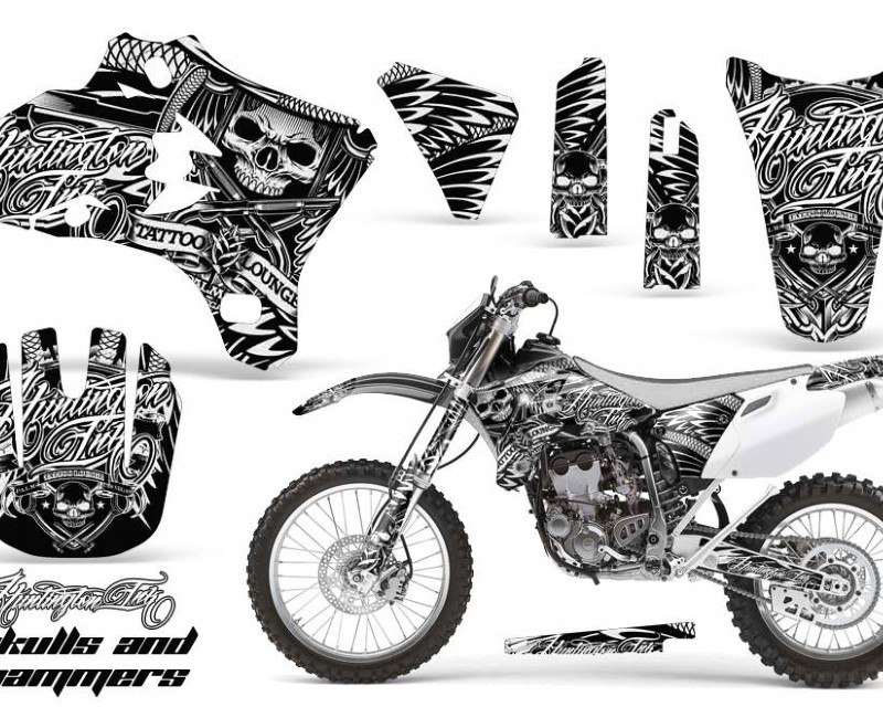AMR Racing Dirt Bike Graphics Kit Decal Wrap For Yamaha YZ250F YZ450F 2003-2005áHISH WHITE