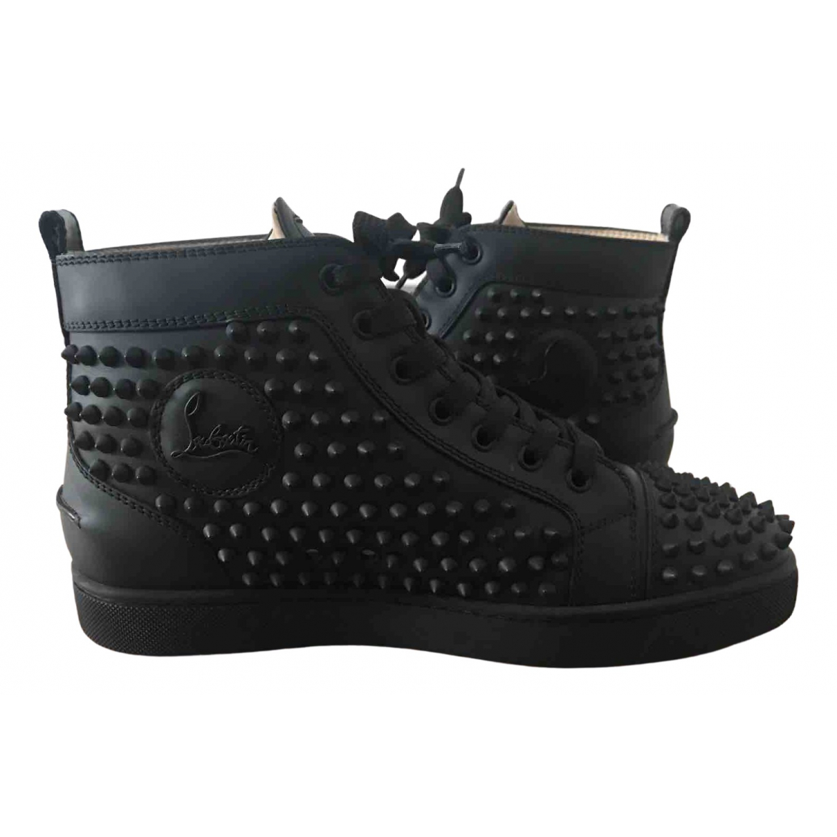 Christian Louboutin Louis Sneakers in  Schwarz Leder