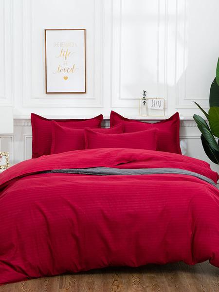 Milanoo Bedding Set 3-Piece Polyester Fiber White Bedding Supplies
