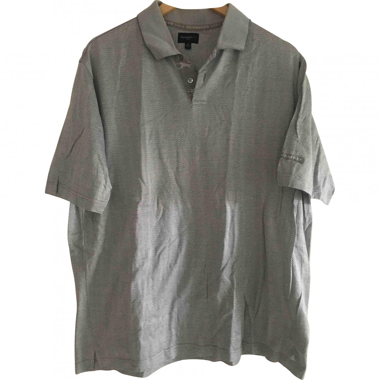 Burberry \N Grey Cotton Polo shirts for Men L International