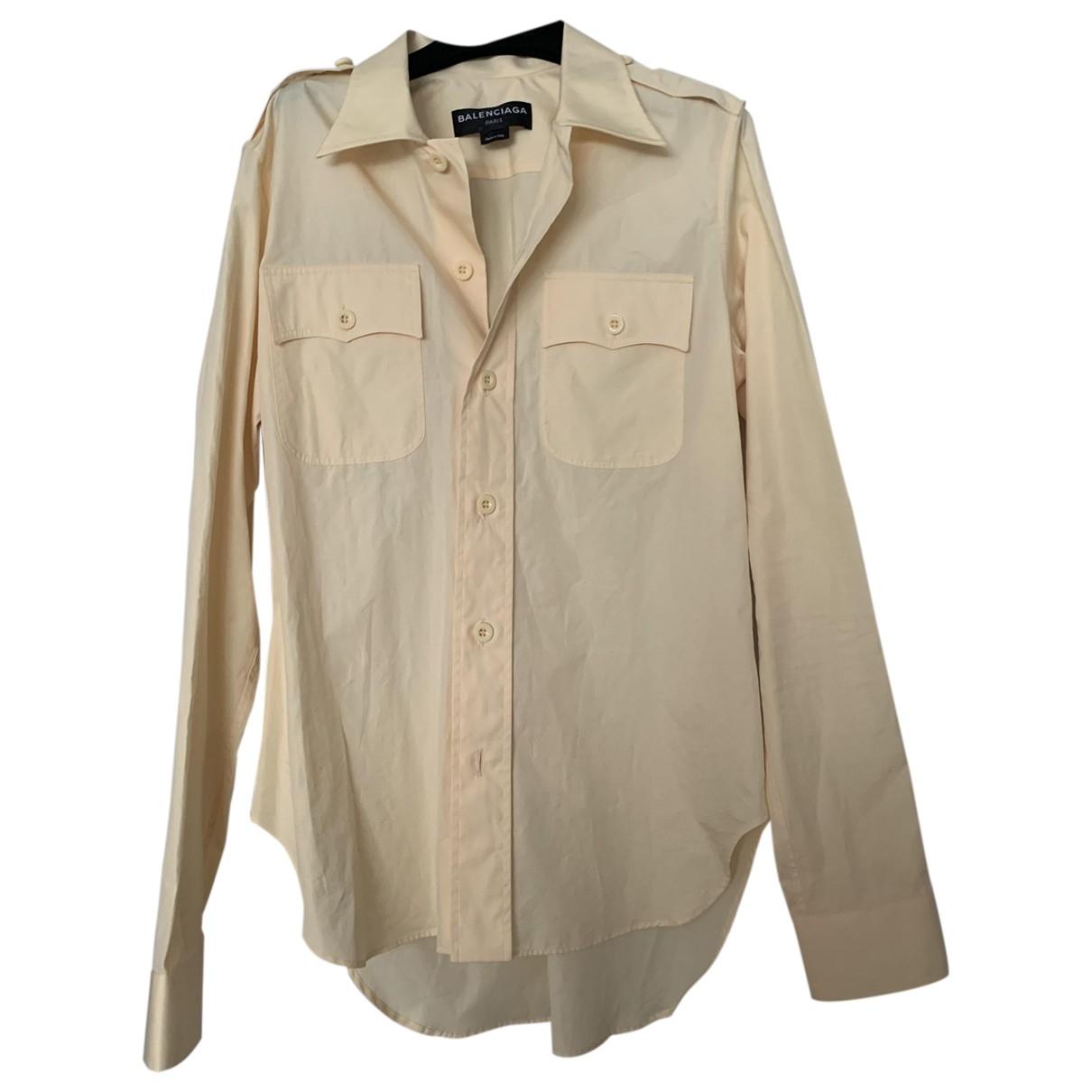 Balenciaga - Chemises   pour homme en coton - jaune