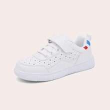 Girls Star Hollow Out Velcro Strap Skate Shoes