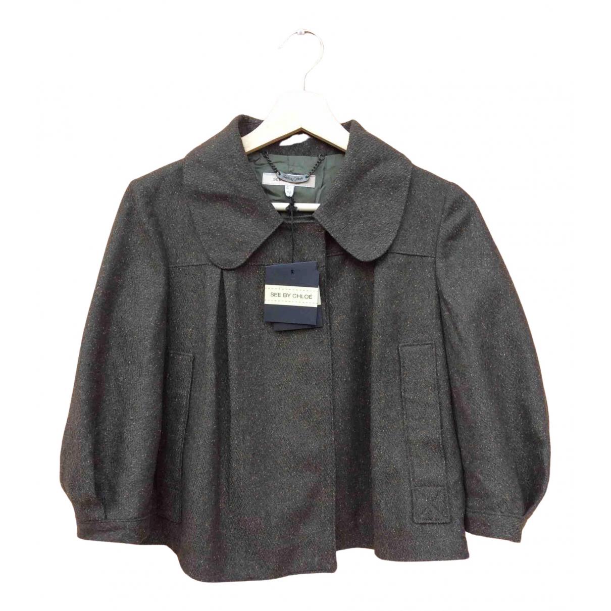 See By Chloe - Blouson   pour femme en laine - vert