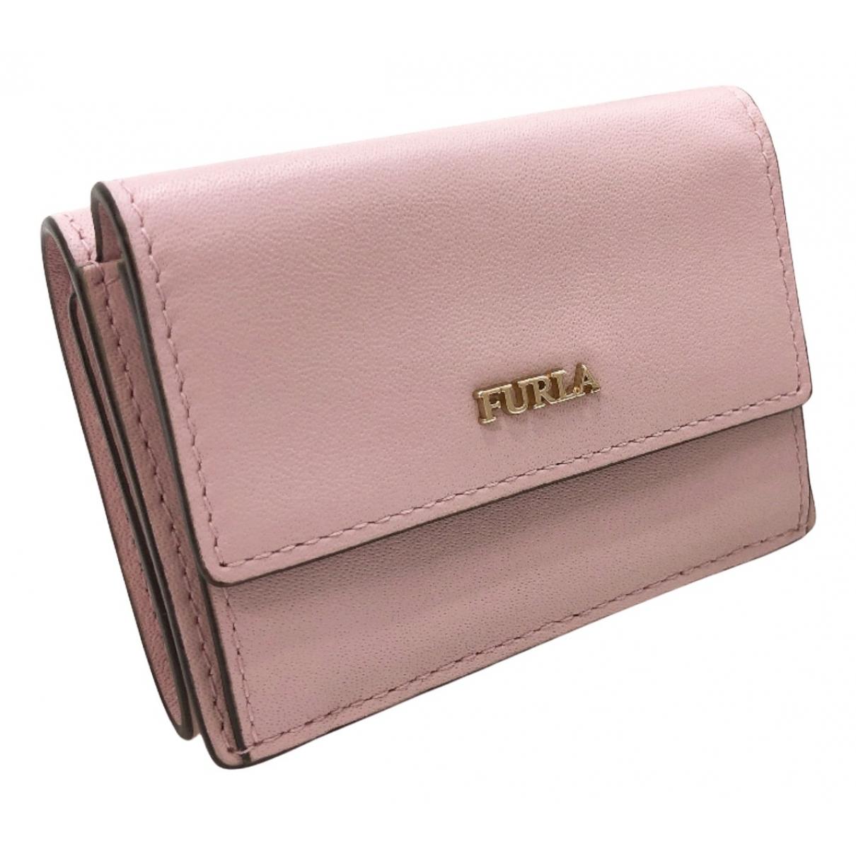 Furla - Portefeuille   pour femme en cuir - rose