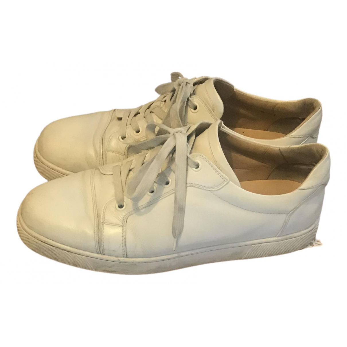 Christian Louboutin \N White Leather Trainers for Men 41 EU