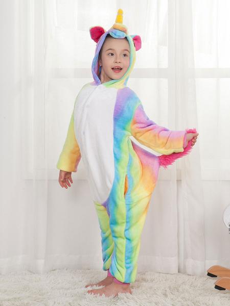 Milanoo Rainbow Unicorn Kigurumi Pajamas Onesie Unicornio For Kids