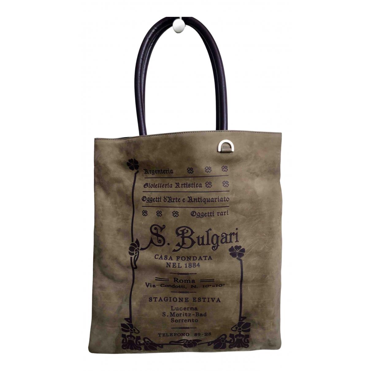 Bvlgari \N Grey Suede handbag for Women \N