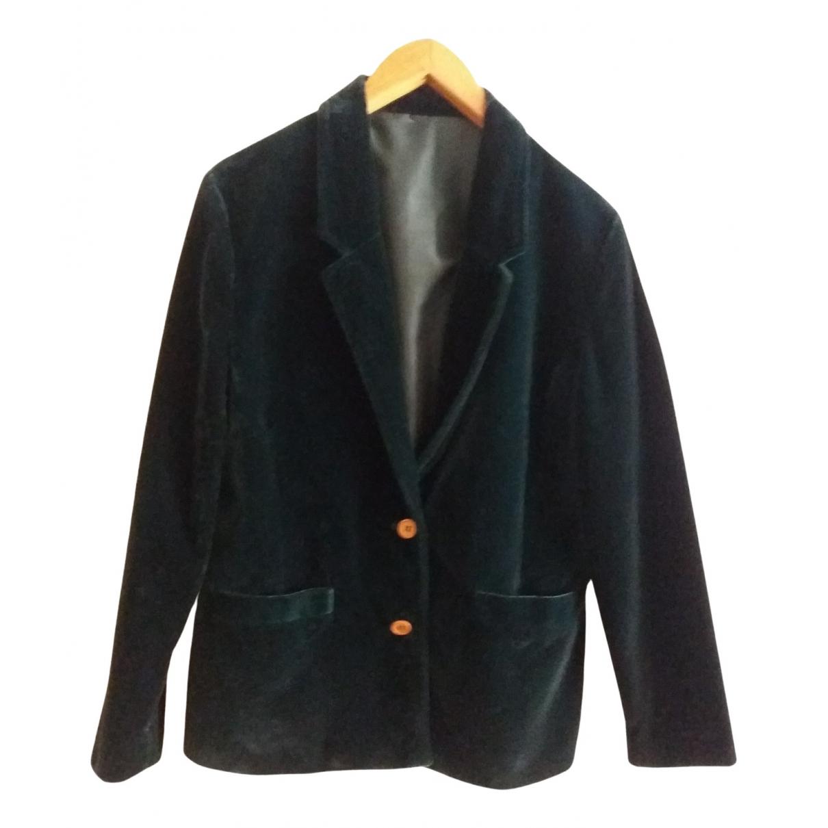 - Veste   pour femme en velours - vert
