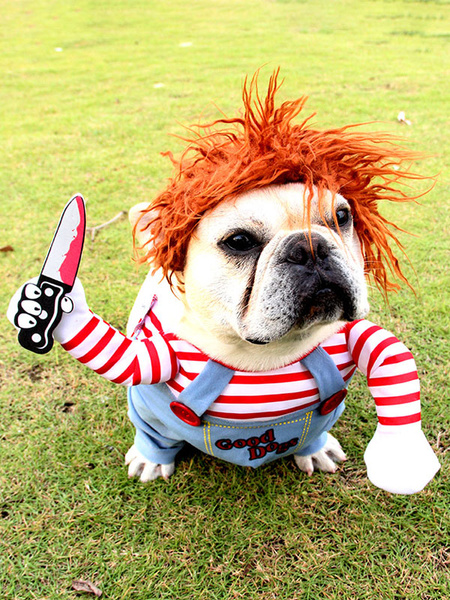 Milanoo Deadly Doll Disfraces de perro Scary Halloween Cosplay Chucky Doll Disfraz de perro