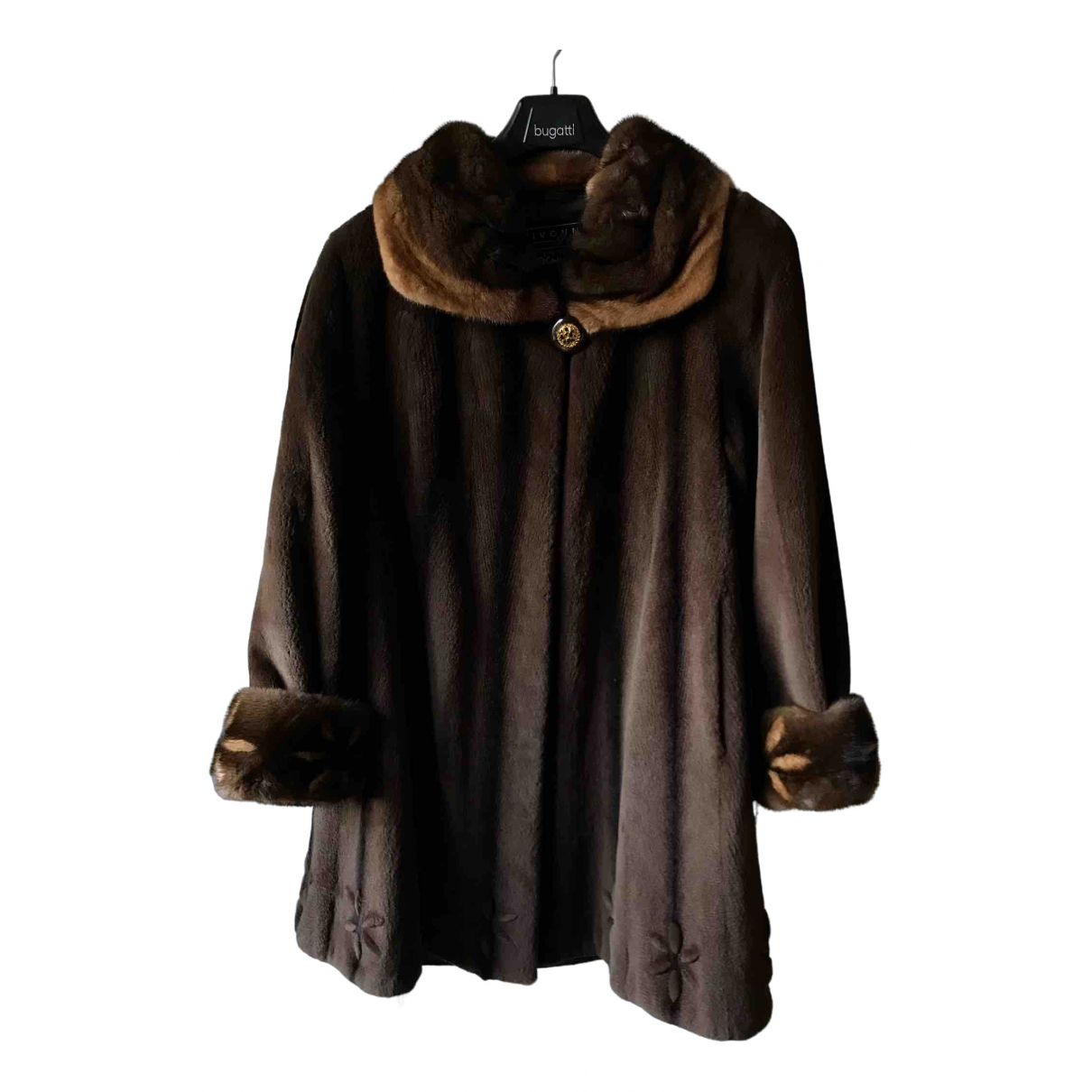 Non Signé / Unsigned N Brown Mink coat for Women 42 FR