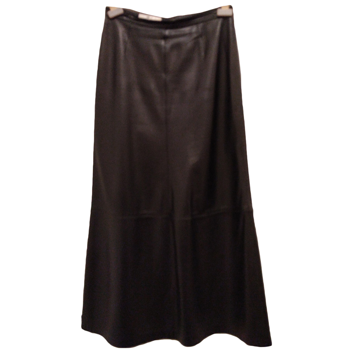Escada - Jupe   pour femme en cuir - noir