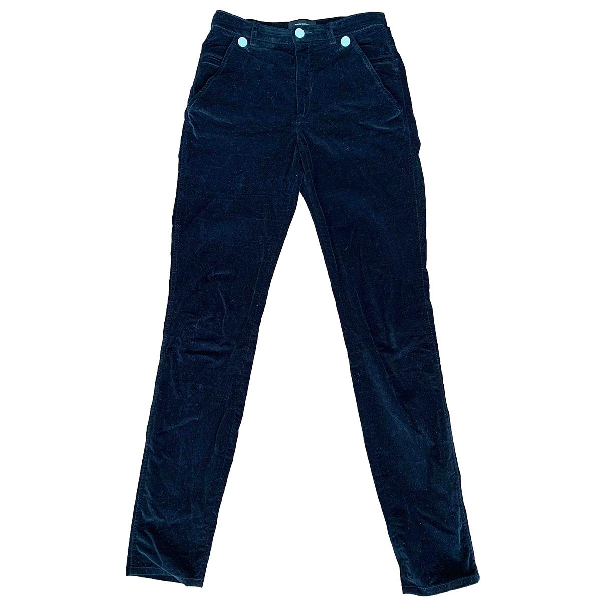 Isabel Marant \N Black Velvet Trousers for Women 38 FR