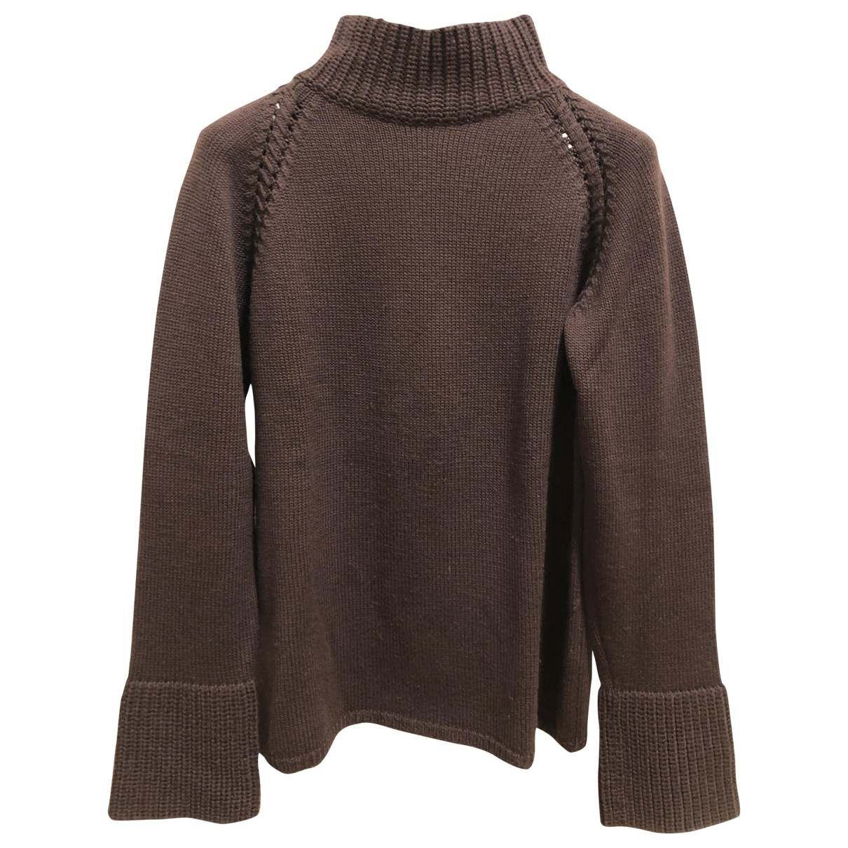 Non Signé / Unsigned \N Brown Wool Knitwear for Women 42 IT