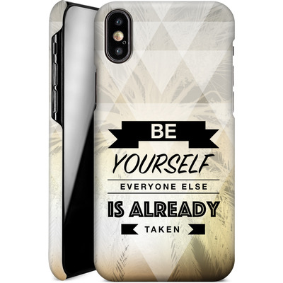 Apple iPhone X Smartphone Huelle - Be Yourself von Statements