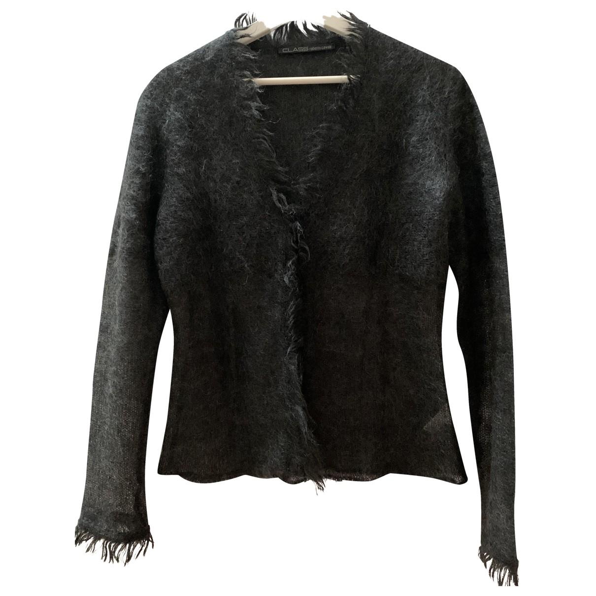 Class Cavalli N Grey Wool Knitwear for Women 44 IT