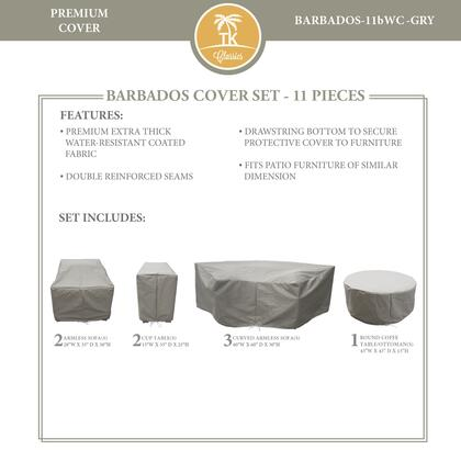 BARBADOS-11bWC-GRY Protective Cover Set  for BARBADOS-11b in