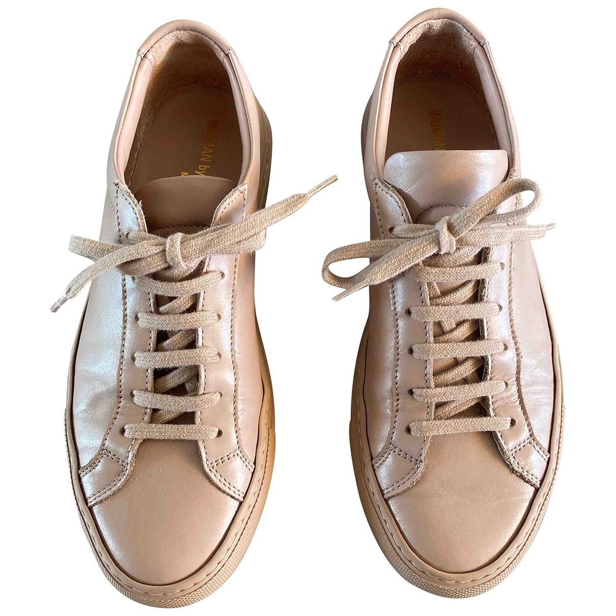 Common Projects \N Pink Leather Trainers for Women 38 EU