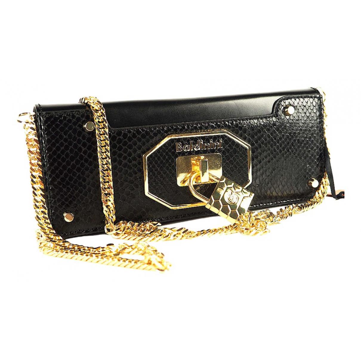 Baldinini \N Handtasche in  Schwarz Leder